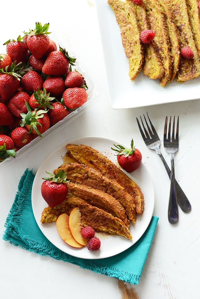 Make your own healthy french toast sticks with just a few whole ingredients. It's flavored with french toast classics: maple syrup and cinnamon and kid-friendly!