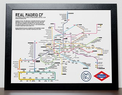 """Check out new work on my @Behance portfolio: """"Real Madrid Metro"""" http://be.net/gallery/37448143/Real-Madrid-Metro"""