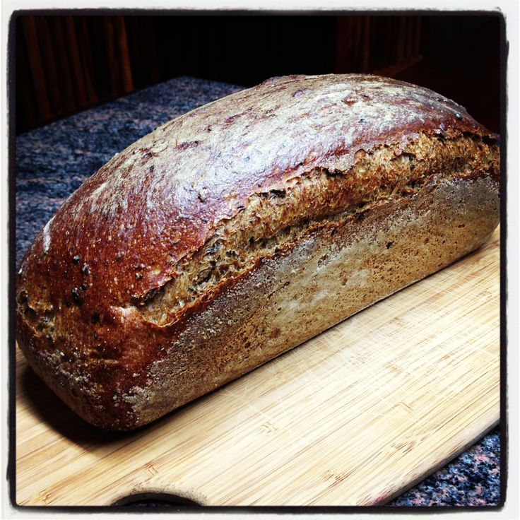 Sourdough wholewheat with malted rye.