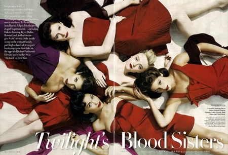 Vanity Fair Twilight Blood Sister photoshoot July 2010 edition