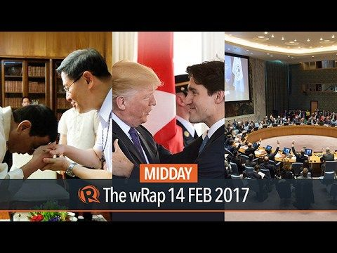 CBCP, Trump & Trudeau, UN Security Council | Midday wRap - WATCH VIDEO HERE -> http://dutertenewstoday.com/cbcp-trump-trudeau-un-security-council-midday-wrap/   Today on Rappler: – CBCP taps bishops to dialogue with Duterte admin – Trump, Trudeau avoid criticizing each other after meeting – UN Security Council condemns NoKor's latest missile launch Full video:  Follow Rappler on Social Media: Facebook – Twitter...