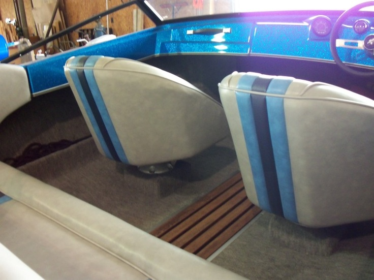 Very good looking seats for a vintage 1984 Checkmate Boat ...