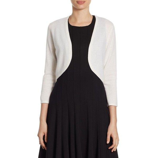 Saks Fifth Avenue COLLECTION Cashmere Three Quarter Sleeve Bolero (410 BRL) ❤ liked on Polyvore featuring outerwear, jackets, open front jacket, cropped bolero, 3 4 sleeve bolero jacket, cashmere bolero and cashmere jacket