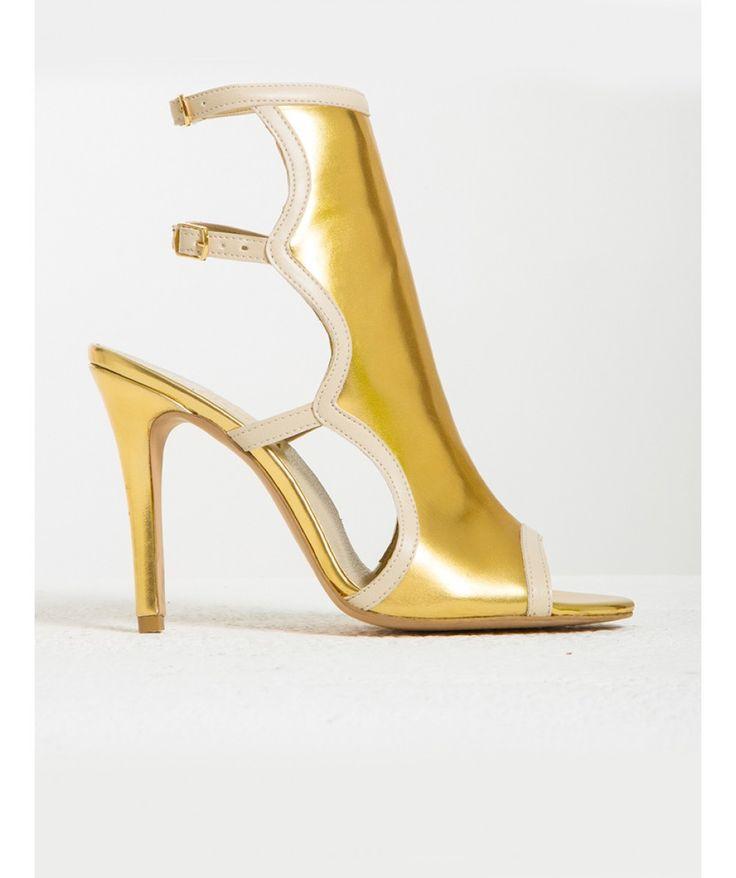 Distance Altın Topuklu Sandalet