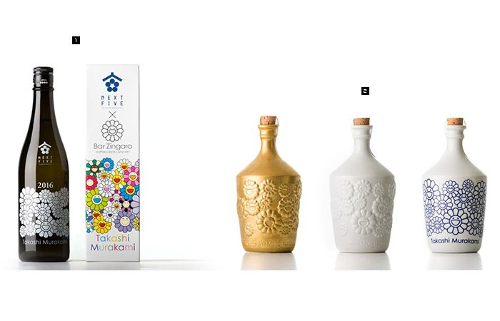 Takashi Murakami × NEXT51オリジナルボトル 3,500円[税抜き] ※5,000本限定製造 ※各特約店にて発売中。 ※Bar Zingaroでは、7月2日(土)より、発売開始。 2オリジナル陶器ボトル 価格未定 左:《金レリーフ》 ※サイン入り ED150 中:《呉須》 ED150 右:《白レリーフ》 ED150 ※各特約店、Bar Zingaroにて、7月2日(土)より、発売開始。 内容量:720ml 蔵元:秋田醸造(秋田県) 特定名称:純米大吟醸 使用米:山田錦・秋田酒こまち45%精米 使用酵母:秋田酵母No.12 アルコール度:15% 日本酒度:+3 1回火入れ、要冷蔵