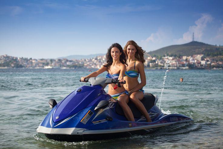 Enjoy Halkidiki 's sea and test your performance in #jetski!