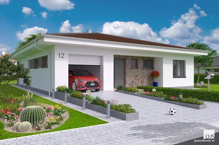 Veľký bungalov so štyrmi spálňami alebo garážou na ploche 140m2 / Large bungalow O140 with floor area of 140m2