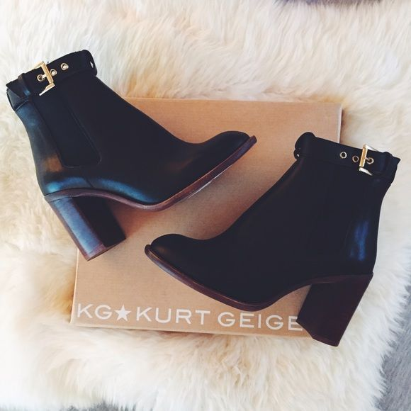 "Spotted while shopping on Poshmark: ""KG by Kurt Geiger Black Booties with Ankle Strap""! #poshmark #fashion #shopping #style #Kurt Geiger #Boots"