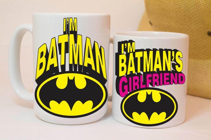 I'm batman,batman's girlfriend,boyfriend gift,boyfriend gifts,girlfriend gift,funny mugs,funny coffee mugs,custom mugs,coffee mug,cool mugs by MugAndBeanCo on Etsy