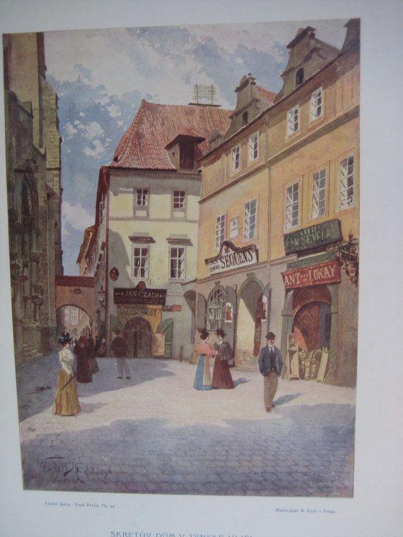 46 Vintage Prints Collection of Jansa Vaclav // 19th Century Czech Artist