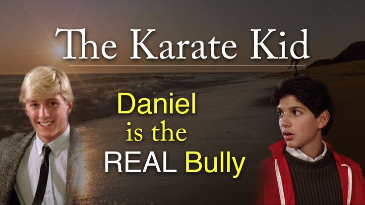Daniel LaRusso is a violent sociopath who picks every fight in The Karate Kid.