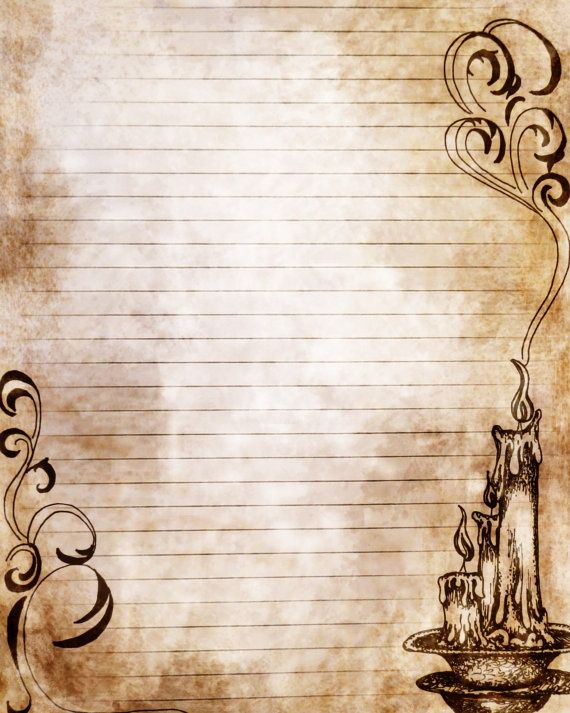 Old looking candle stationery