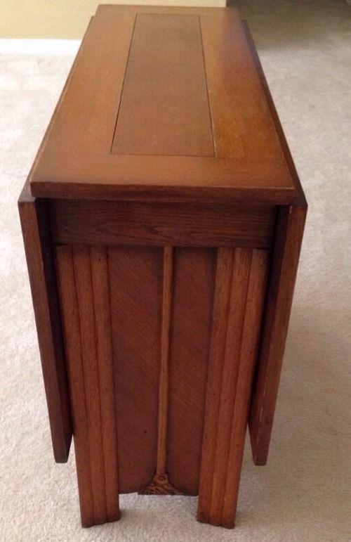 Drop Leaf Sofa Table Antique Oak Gate