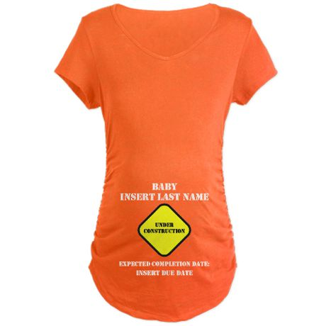 Under Construction Personalize Baby T-Shirt on CafePress.com