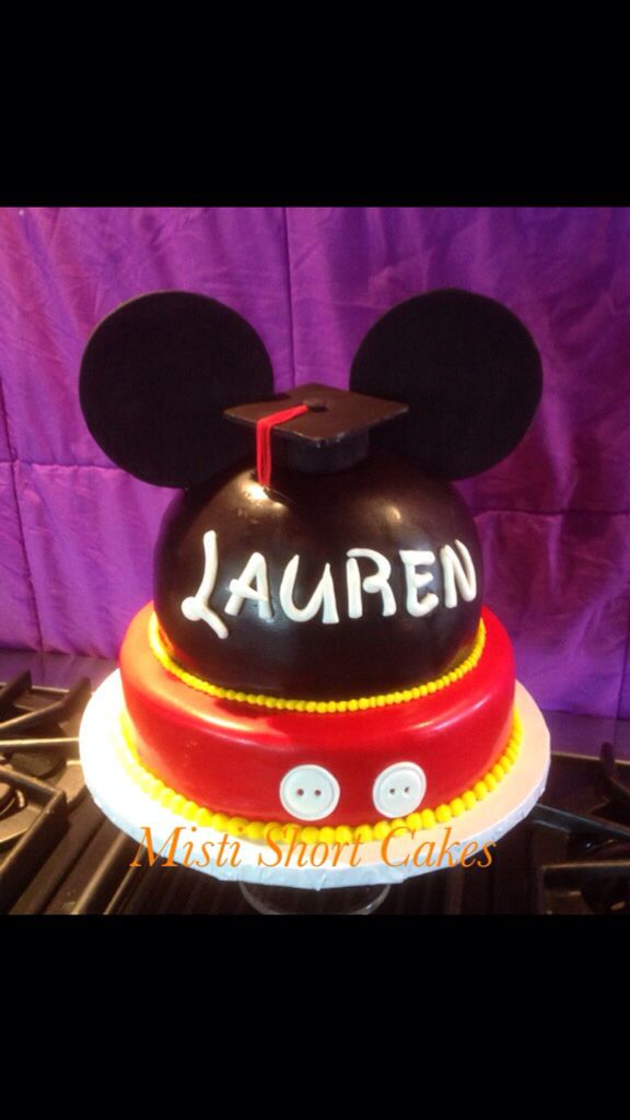Mickey Mouse Grad Cake Disney Graduation Cake Made By