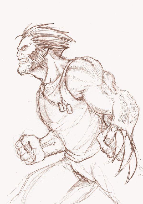 Wolverine Sketch by ZacBrito on deviantART