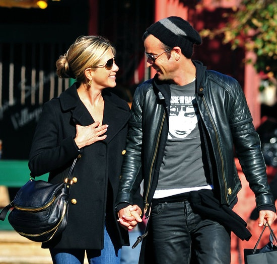 Jennifer Aniston and Justin Theroux were beaming while out running errands around NYC in September 2011.