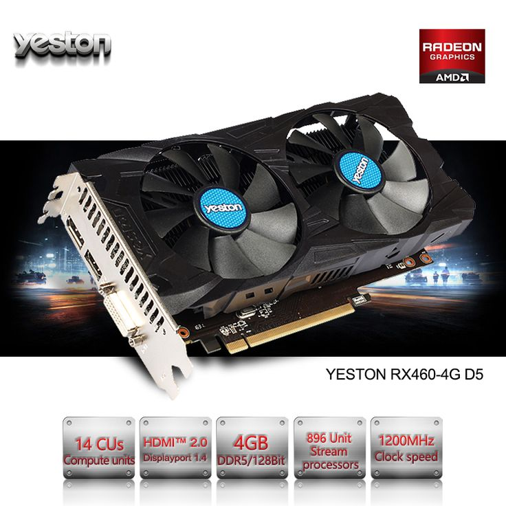 Yeston Radeon RX 460 GPU 4GB GDDR5 128 bit Gaming Desktop computer PC Video Graphics Cards support DVI/HDMI PCI-E X8 3.0 looks fine in design, features and function. The best accomplishment of this product is in fact simple to clean and control. The design and layout are totally astonishing that create it truly interesting and beauty...** View the item in details by clicking the VISIT button..