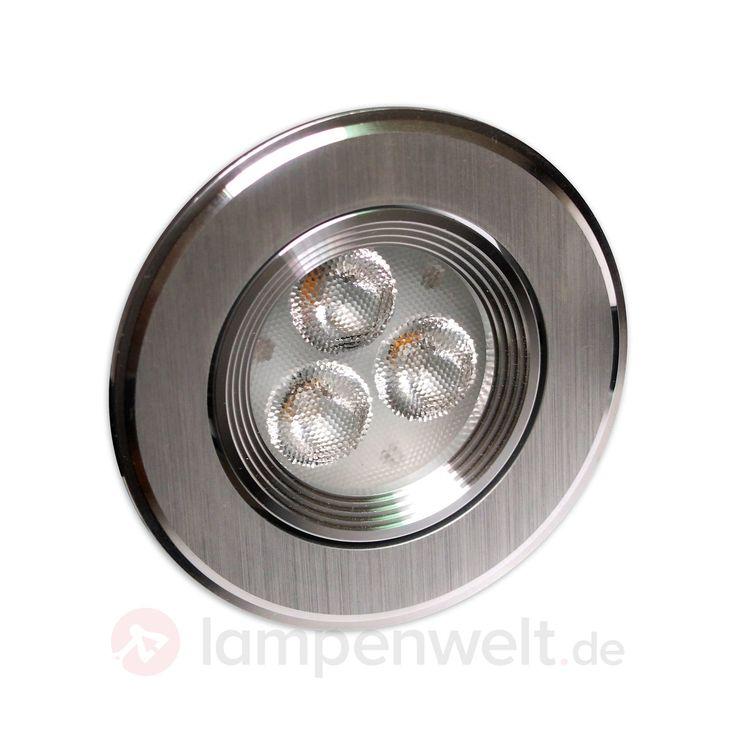 Dimmbarer LED-Einbaustrahler Enna - rund 8,6 cm sicher & bequem online bestellen bei Lampenwelt.de.