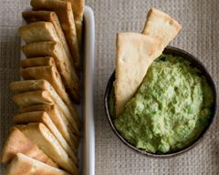 Fresh Pea and Lime Hummus with Garlic Pita Chips.  This sounds SO FREAKING GOOD!  gotta try soonest!