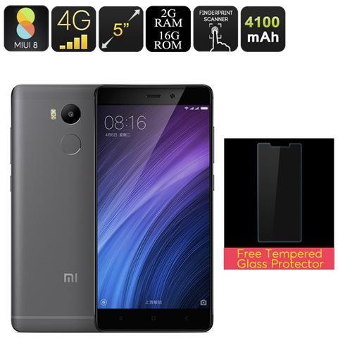 Redmi 4 Smartphone - Android 6.0, 2gb Di Ram, Cpu Octa-core, 5 Pollici, 4100mah Batteria, Sensore Di Impronte Digitali (grigio)