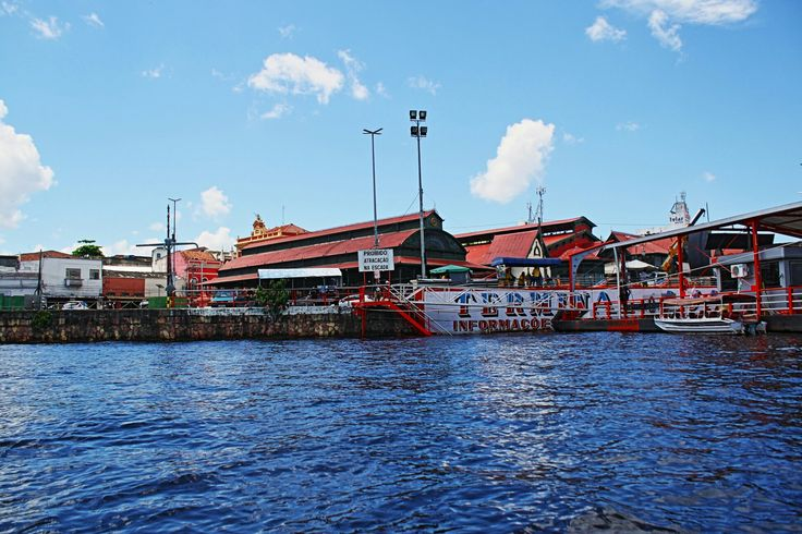 Mercado Municipal Adolfo Lisboa, visão a partir do Rio Negro, Manaus