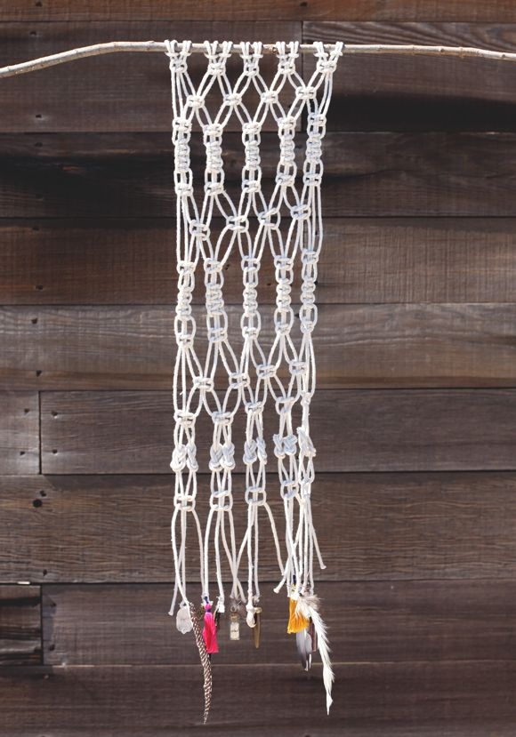 How To Macrame (And Create A Wall Hanging!) - Free People Blog This is a simple example, but you can really get creative with it!