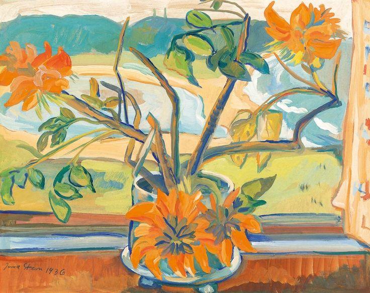 Irma Stern - Flowers and Beach Landscape, 1936,...