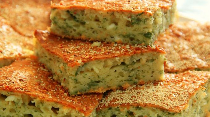 Pilaska (pırasalı tuzlu kek)