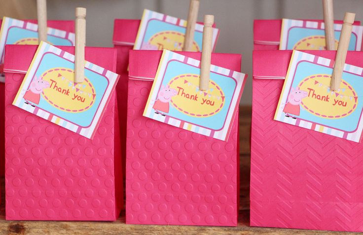 Peppa PIG DIY Birthday Party Favour Tags Printable A4 Sheet | eBay