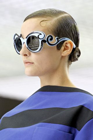 B&W Sunshades....great blue and black stripe, too: Prada Baroque Sunglasses, Shades, Fashion, Style, Prada Eyeglasses, Prada Sunglasses, Ray Ban Sunglasses, Sunglasses Discount, Eyes