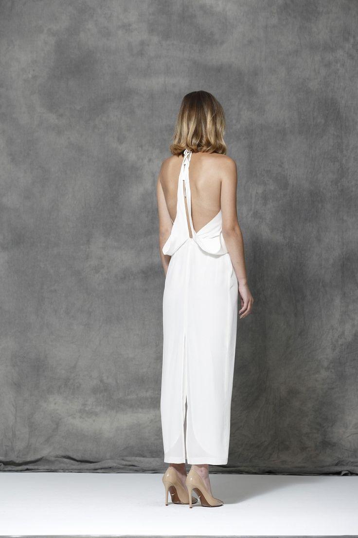 ORIGAMI LONG CREME - DRESSES - SHOP COLLECTION