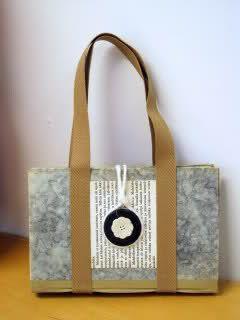Kirjalaukku - old book turned into a bag