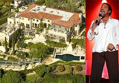 Lionel Richie       The megastar has sold over 100 million records in his vastly prolific career as well as adopting a little girl called Nicole after meeting her at a Prince concert.     This is the $11.4 million Beverly Hills mansion of the singer/songwriter (which backs up to the Bel Air CC). Richie purchased the home in 1999 for exactly $6 million.