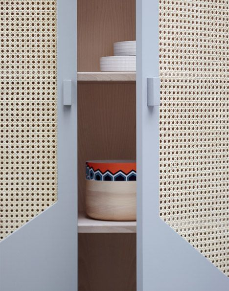 Look, it's that perforated panel stuff I want for my cupboard doors! Colonel's 2015 collection