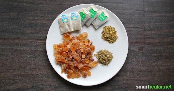 Aus einfachen Zutaten kann jeder leicht selbst einen heilsamen und wohlschmeckenden Hustensaft herstellen.