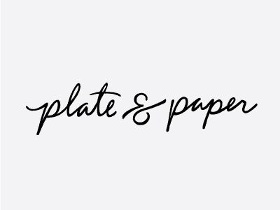 plate & paper - amazing ampersand