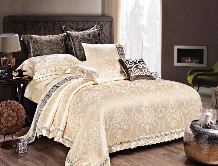 Lenjerie de pat din mătase Valentini Bianco MT010/2