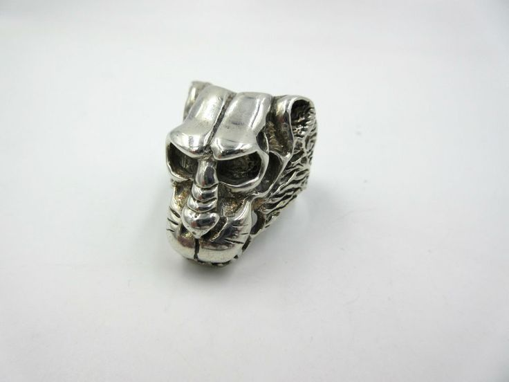 Vintage Baboon Animal Sterling Silver Large Chunky Mens Ring size 9.5 #baboon