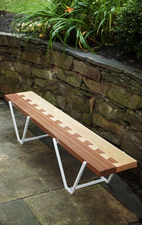 Banco ... se podría hacer mesa ... sillas jardin ... con buen barniz