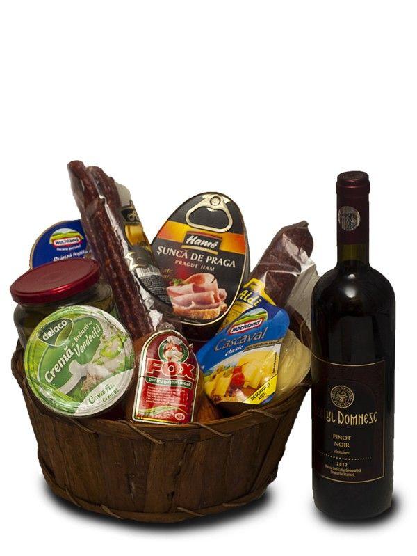 Cos gourmet cu vin Cosul gourmet cu vin potoleste foamea oricarui gurmand. Comanda-l si nu vei regreta.