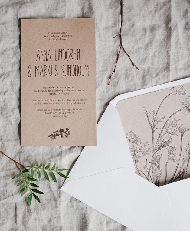 Free printable rustic invitations and envelope liners| Printattavat rustiikit kutsut - Best Day Ever