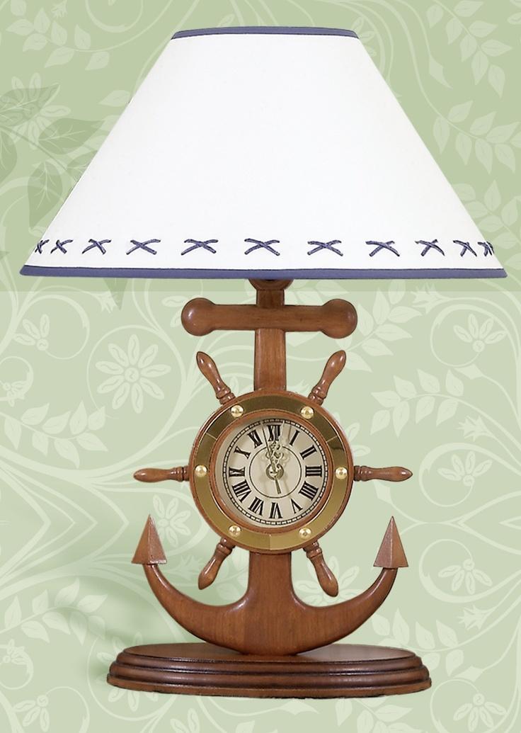 Anchor Clock Nautical Lamp Furniture I Want Pinterest