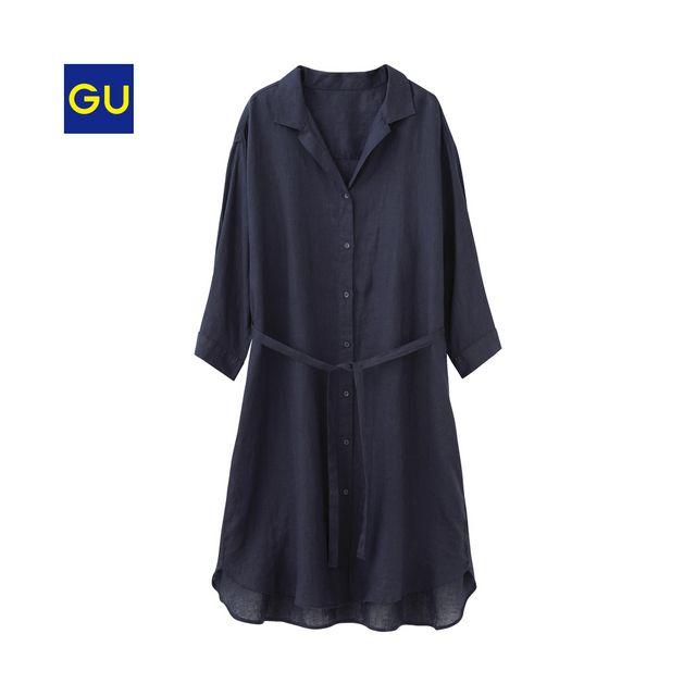 フレンチリネン100%素材を贅沢に使用したシャツワンピースです。羽織りとしても、ワンピースとして一枚着でも着用できる2WAYタイプ。あえてデザインをシンプルにしたことで、着こなしの幅も広がります。インナーにカットソーを着て、ボトムスはデニムが好相性!オープンカラーデザインで抜け感をプラスし、少し後ろに襟を抜いて着るのがトレンドのスタイリングです。<br><br>※取扱店舗においても商品によっては品切れや未入荷、もしくは取扱いの変更や販売日が異なる場合があります。予めご了承ください。<br><br><a href='http://r.advg.jp/adptg_count/r?adptg_aid=5413&adptg_mid=11166&adptg_lid=1' target='_blank'><img style='width:100%;' src&#x...