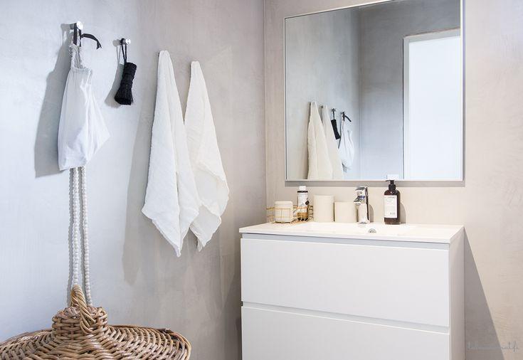 Kaikki kodin kylpyhuoneet ovat myös betonipinnalla!