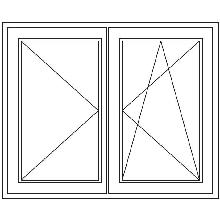 Draai / kiep - draai stolp kozijn slaapkamers = 5x