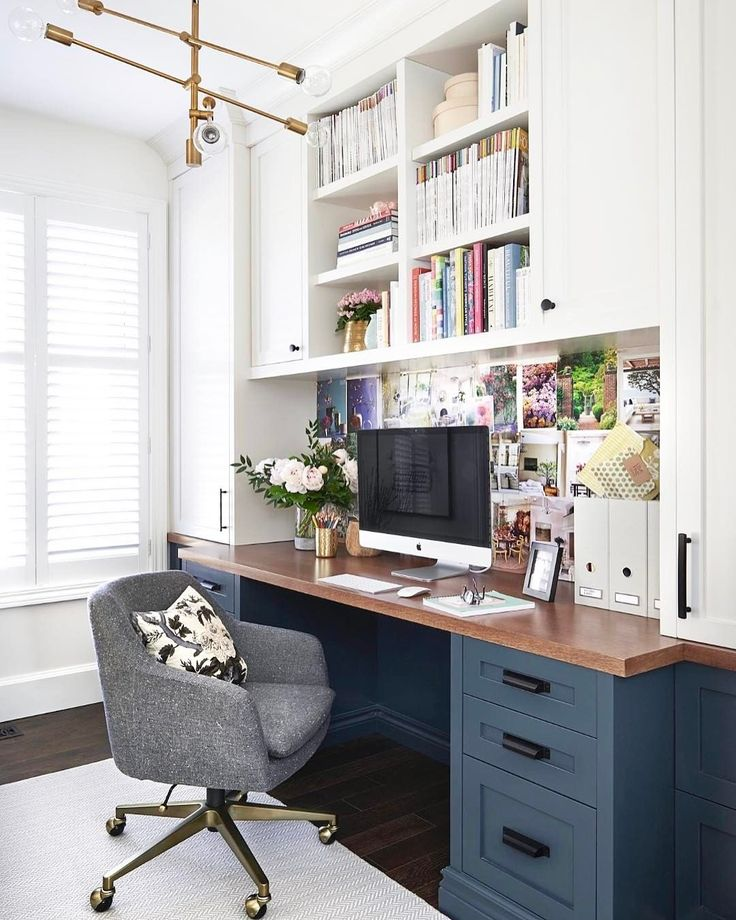 love this dark desk color the wood