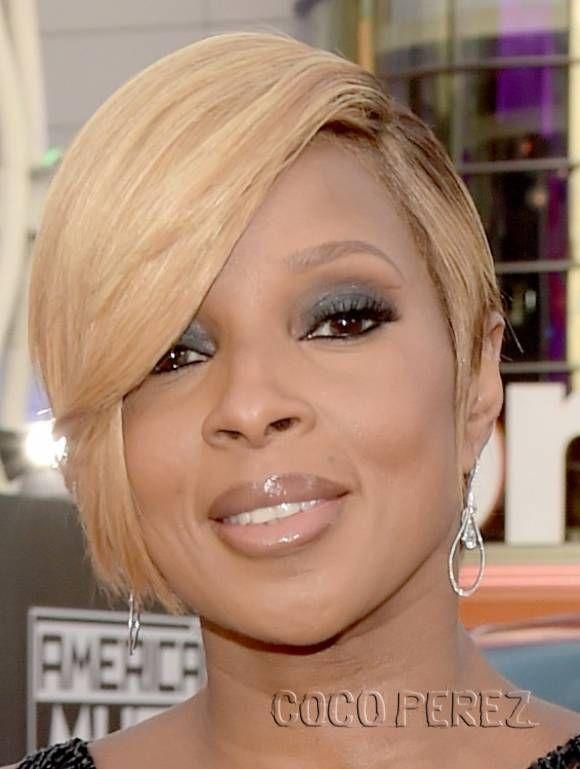 J Blige Medium Curls J Blige Shoulder Length Hairstyles