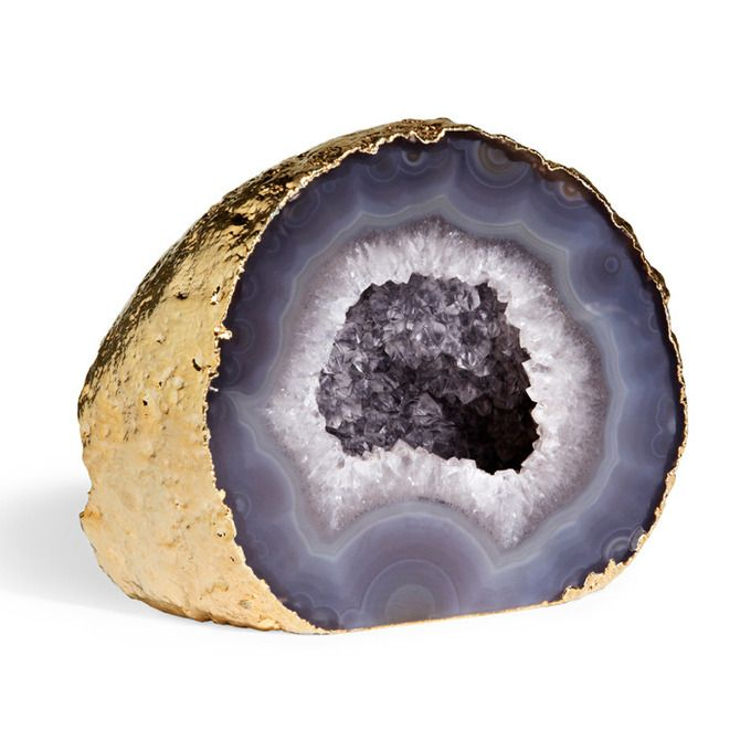 For the Lover of Little Luxuries: Grey Agate Geode by Aerin