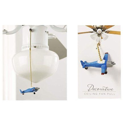 Free Shipping. Buy Giftcraft Airplane Ceiling Fan Pull, Blue at Walmart.com
